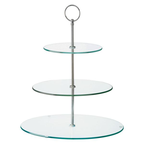 Glass Three Tiered Cake Stand