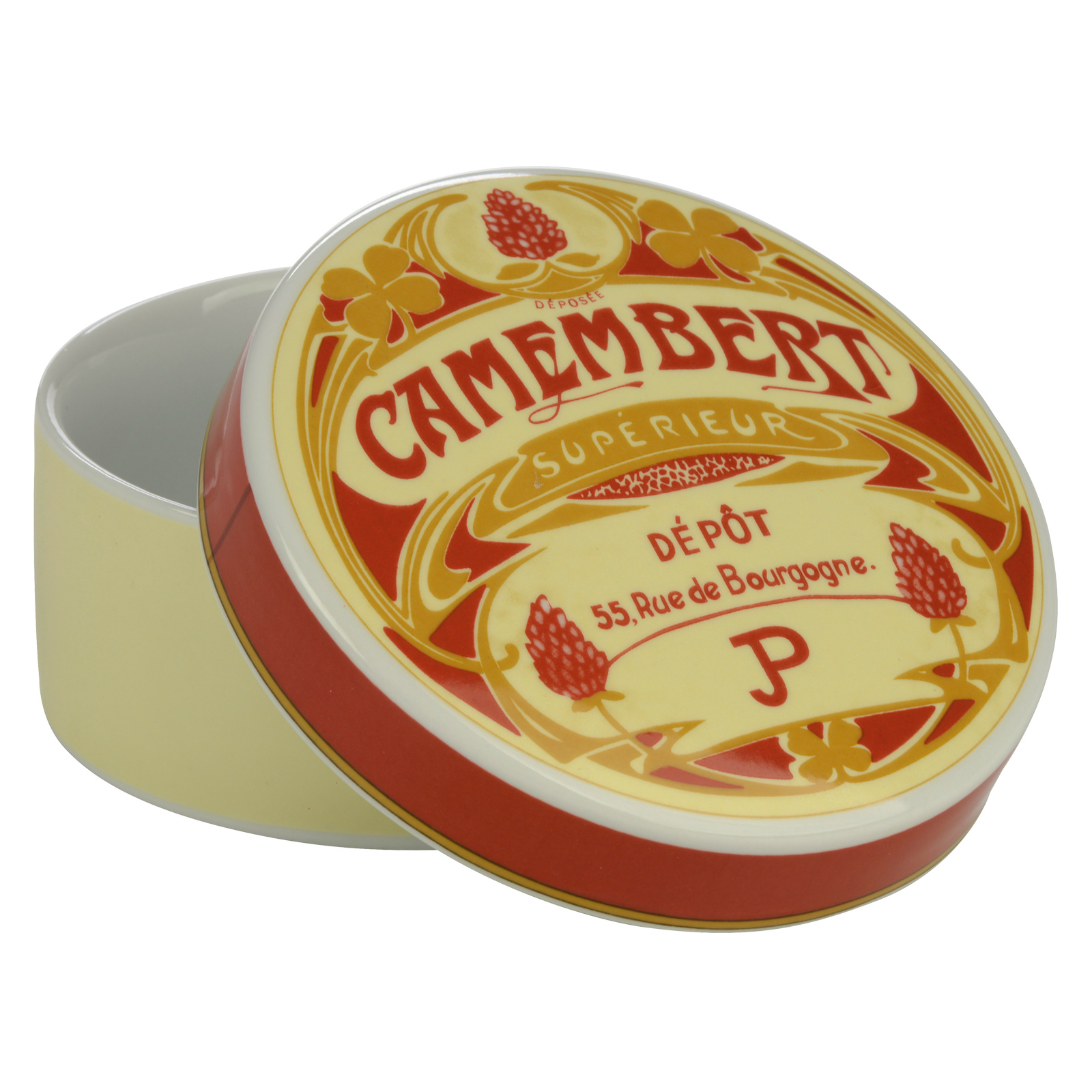 Vintage Camembert Baker & Cover