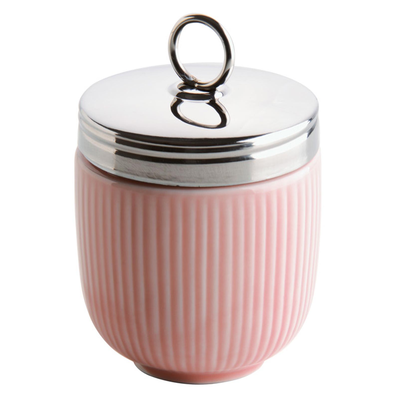 Fluted Egg Coddler Celadon Pink