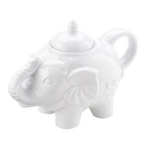 Elephant Sugar Pot White
