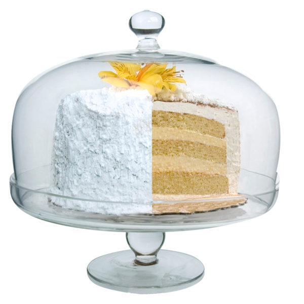 Simplicity Cake Stand with Round Dome