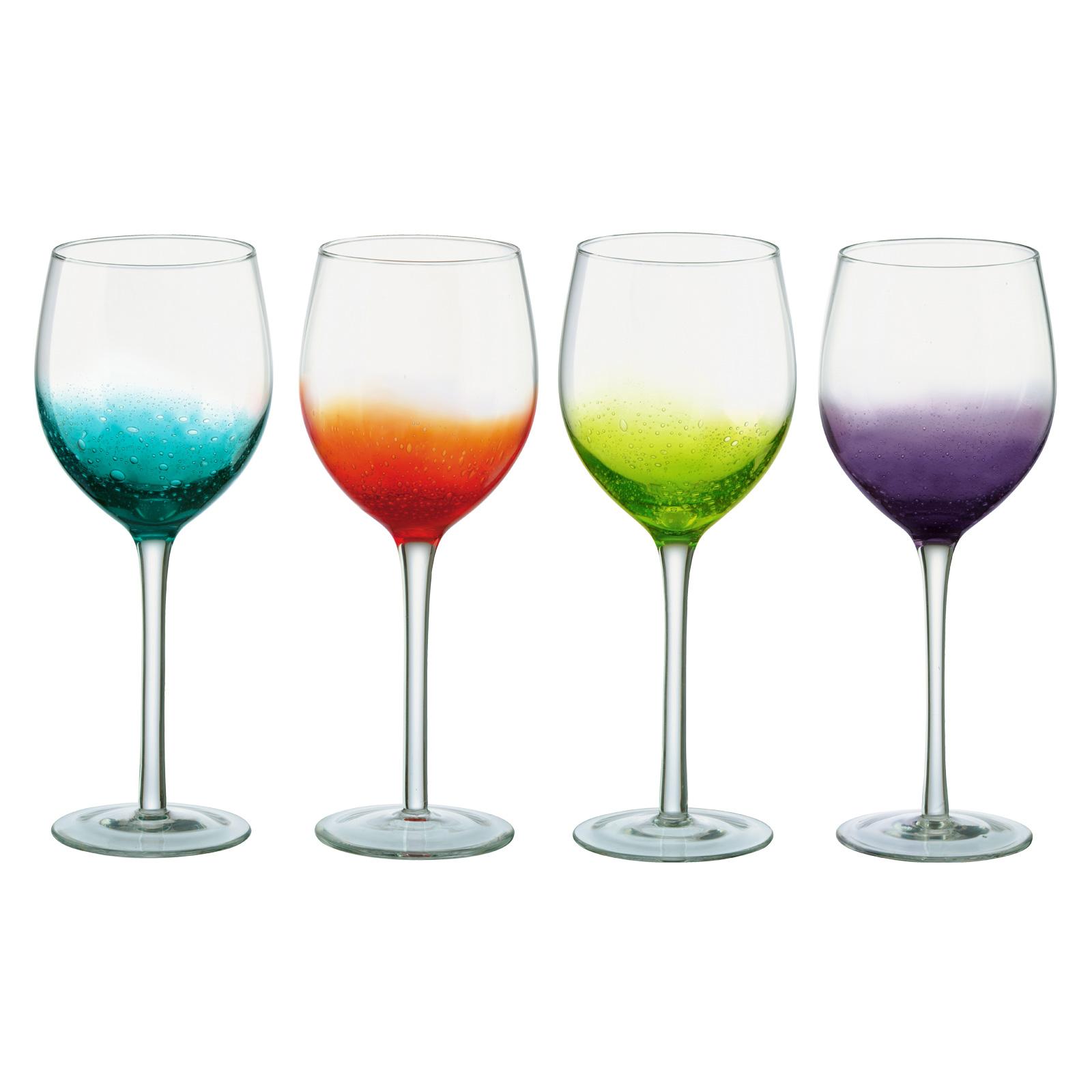 Set of 4 Fizz Wine Glasses
