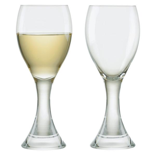 Set of 2 Manhattan White Wine Glasses