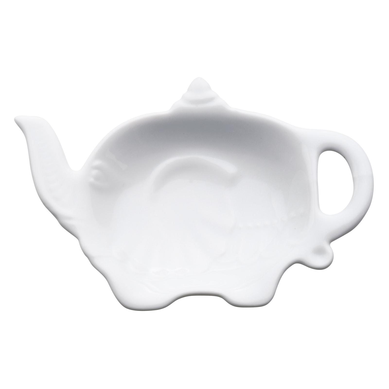 Elephant Teabag Tidy White