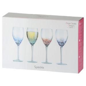 Set of 4 Speckle Wine Glasses
