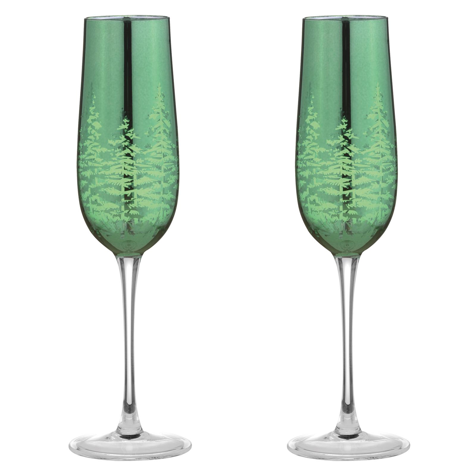 Set of 2 Alpine Champagne Flutes Gold