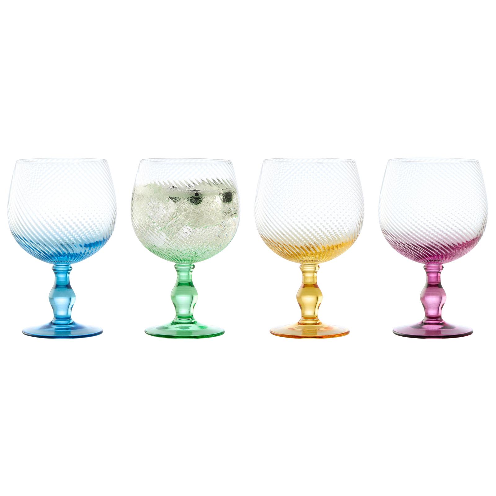 Set of 4 Swirl Champagne Flutes