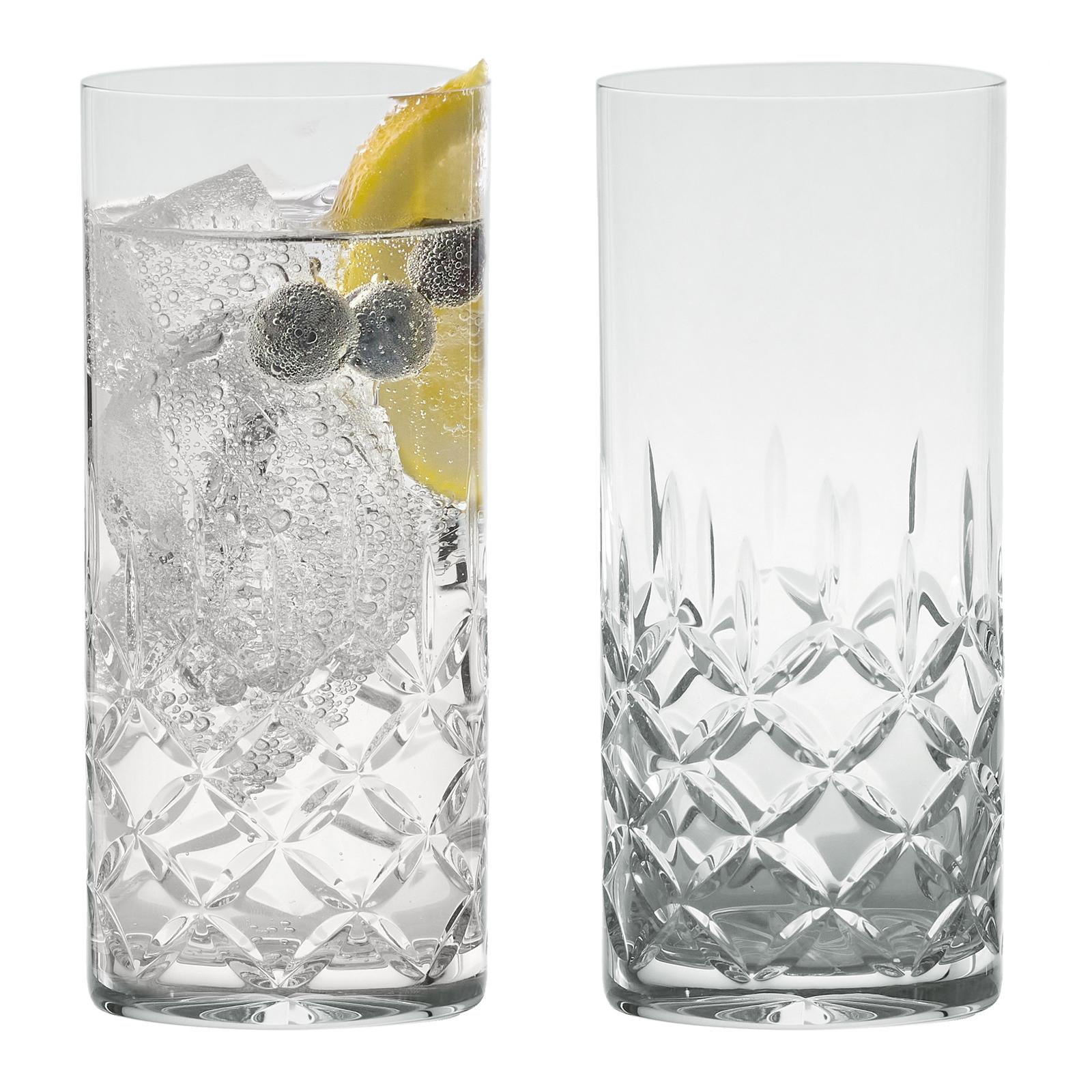 Set of 2 Dorchester Brandy Glasses Fully Cut